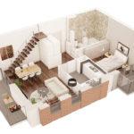 aksonometria 3d mieszkania