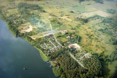 z lotu ptaka terenu w Tomaszkowie
