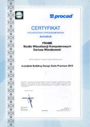 Autodesk Building Design Premium - certyfikat legalności oprogramowania