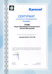 Autodesk Rebit LT - certyfikat legalności oprogramowania