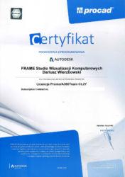 Autodesk A360 Team - certyfikat legalności oprogramowania